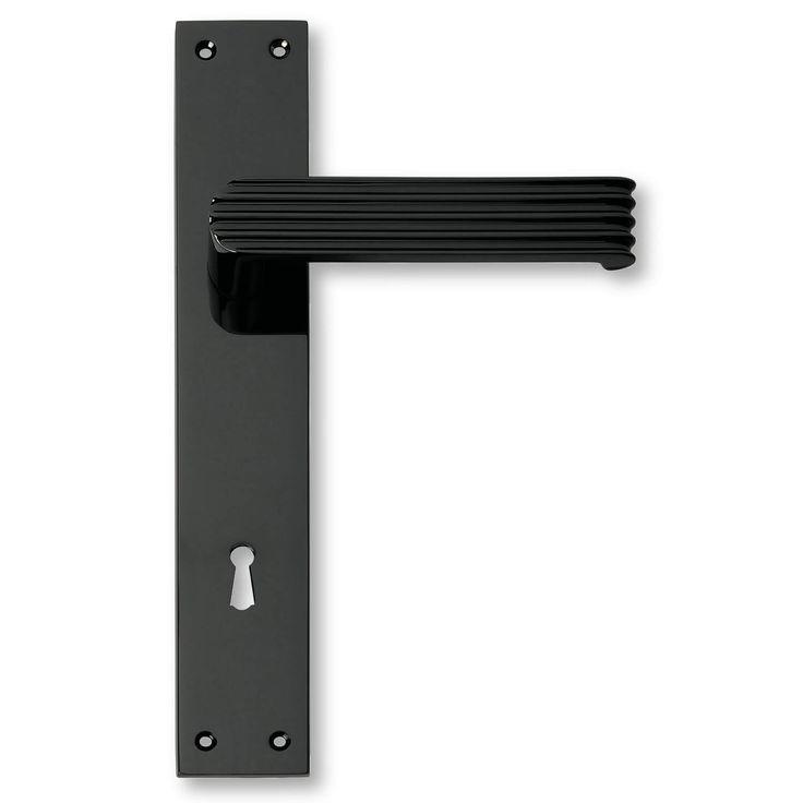 Dørgreb mat sort - Dørhåndtag fra 1930´erne Italiens designede dørgreb