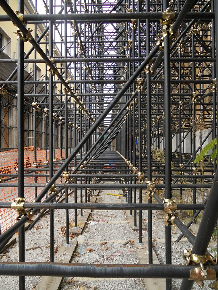 A point of view - scaffolding - L'Aquila - Italy