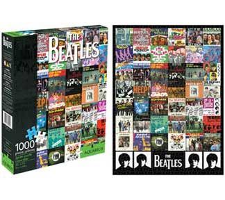 The Beatles Singles 1000pc Puzzle - This massive The Beatles Singles 1000pc Puzzle features memorable cover art, from A Hard Day's Night to Yellow Submarine and everything in between. We know you can't wait to put your hands to work.