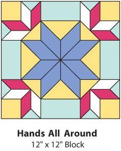 Hands All Around Quilt Block Patrones Pinterest