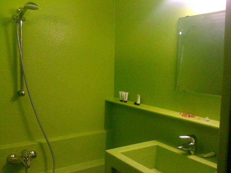 Bathroom designed by Joep van Lieshout @ Lloyd Hotel Amsterdam >> furnished by Lensvelt