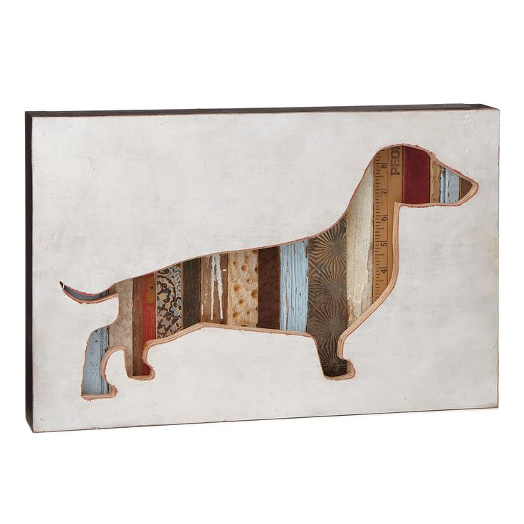 DOG SILHOUETTE - DOLAN GEIMAN | recycled art, pet portrait | UncommonGoods    -available in diff breeds! :)