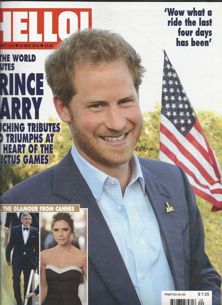 Hello magazine Prince Harry Cannes Helen Glover Liam Payne Queen Elizabeth