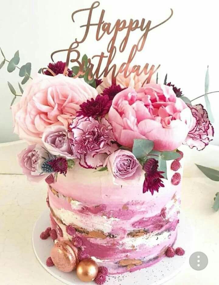 Картинка с днем рождения с тортом и цветами, поздравление рождение сыночка