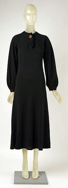 Dress (image 1)   Madeleine Vionnet   French   1935   wool, metal, leather   Metropolitan Museum of Art   Accession Number: 1976.29.12