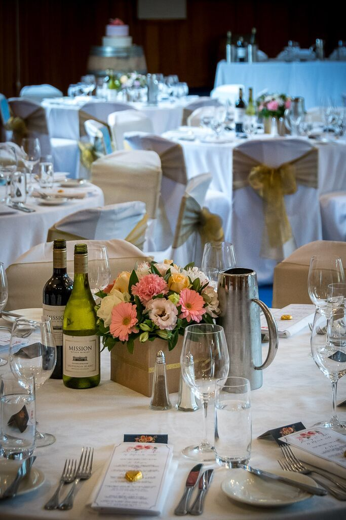 Kate & Jeremy's March wedding - a pretty colour scheme of pink florals from The Flower Barrow, navy floral place cards - Mission Estate, Hawkes Bay