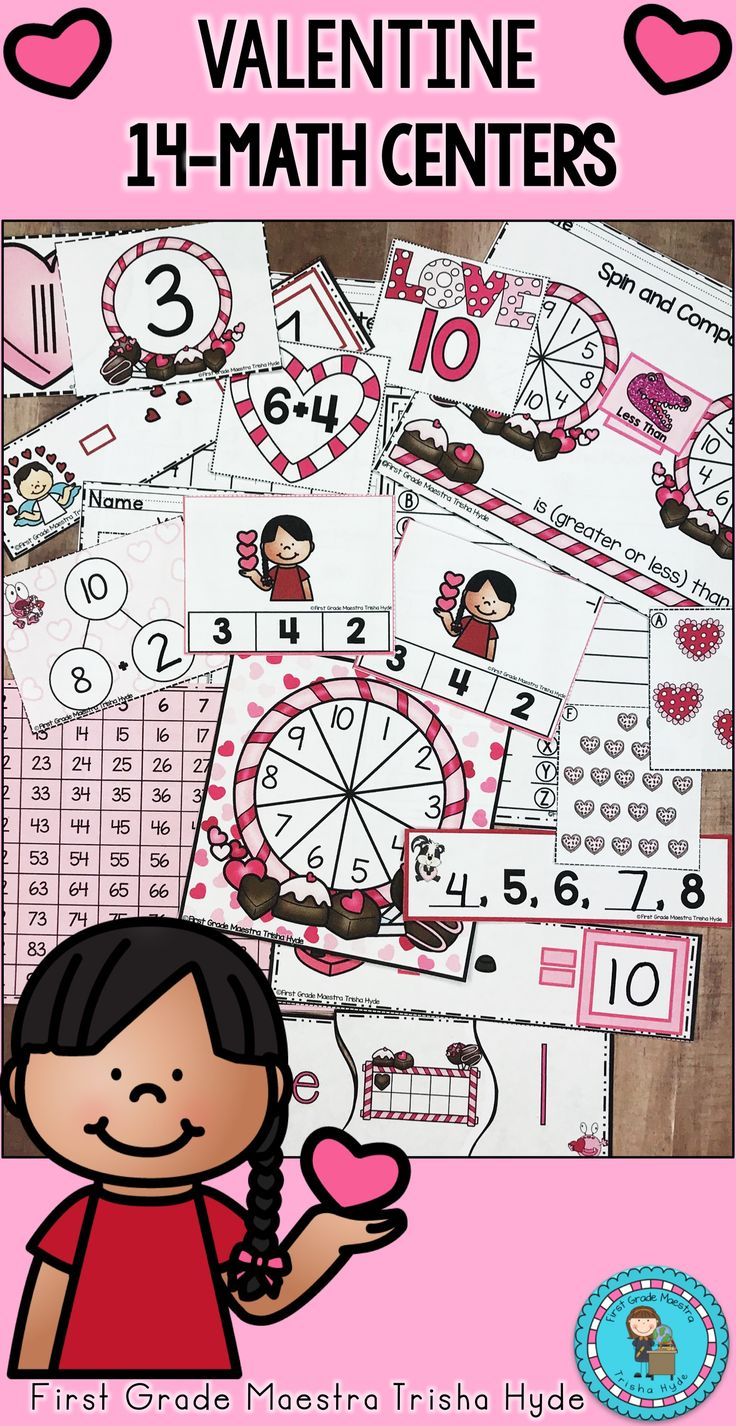 Valentine Math Centers for the month of February!❤️ This pack is filled with 14 super cute Valentine math centers for the month of February! Each center includes a cover sheet with directions and many of the centers include a recording sheet for student assessment.  Click the visit button to see all of these amazing centers.
