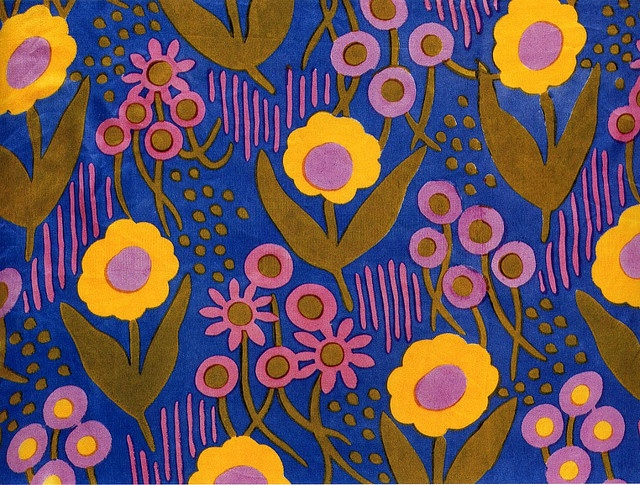 Paul Poiret, Dress fabric, 1919 by the Atelier Martine (Poiret's design studio, 1911-1930s). Martine, which opened on April 1, 1911, was the interior design business owned and operated by Paul Poiret, a noted Parisian couturier. The business consisted of École Martine, Atelier Martine, and La Maison Martine. École Martine