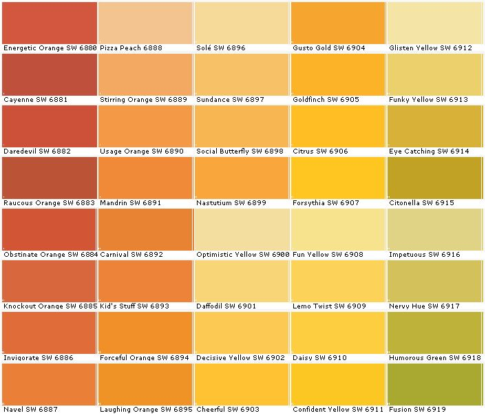 Best 25 orange paint colors ideas on pinterest orange Shades of orange colour chart