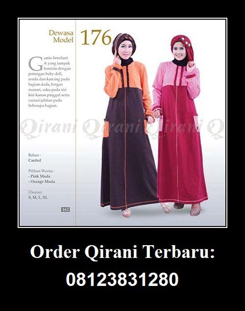 Gamis Wanita Dewasa Qirani Model 176 Hubungi : Whatsapp : +62 812-3831-280 SMS : +62 812-3831-280 BBM : 5F03DE1D