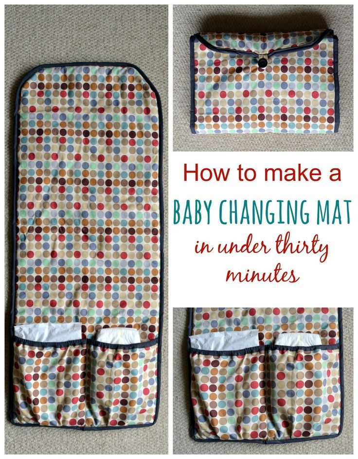 Sew your own baby changing mat in thirty minutes-posted by Vicky This baby changing mat is sewn with cotton, with wadding on the inside to add a little cushioning for baby's bottom. It is easy to throw in the washing machine to freshen up. If you prefer you can make the changing mat use a laminated fabric.