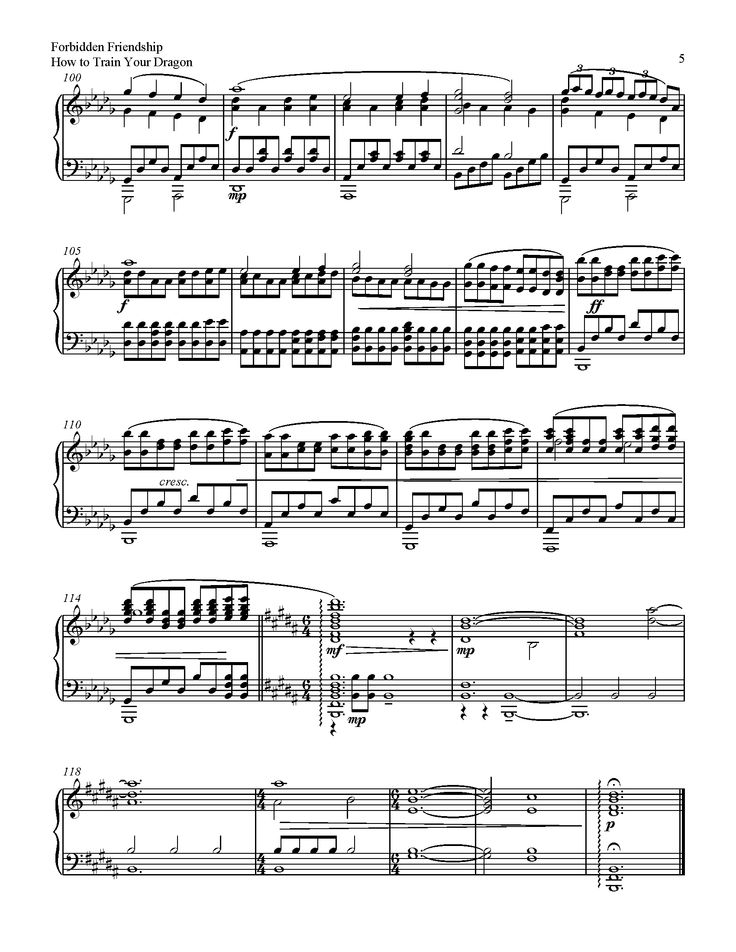 10 best piano tutorial images on pinterest piano pianos and sheet forbidden friendship how to train your dragon sheet music fandeluxe Image collections