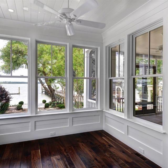 Shiplap Ceiling Board And Batten Sunroom Dream Home