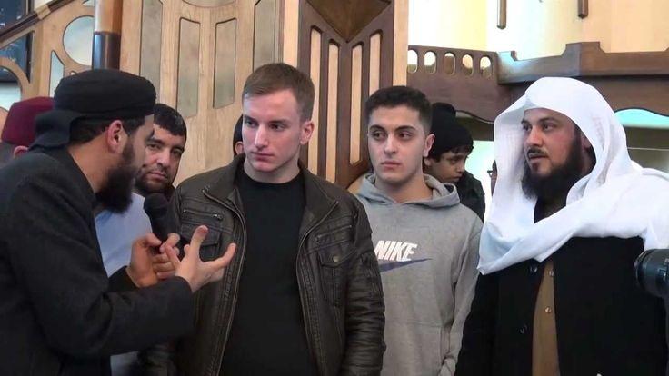 Nicht-Muslim konvertiert bei Sheikh Arifi شاب يسلم على يد الشيخ العريفي