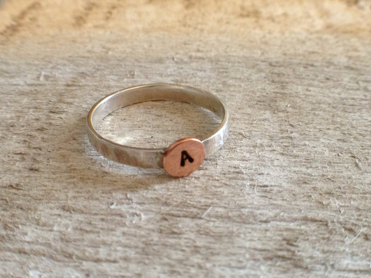 Initialed Silver Ring