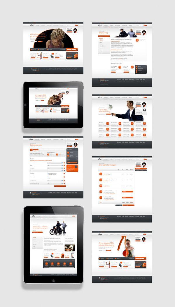 Alka - Interactive design: Website Mocking, Web Design Lik, Design Ui, Interface Webdesign, Ui Ux Web Design, Interactive Design, Color, Gram Web, Webdesign Orange
