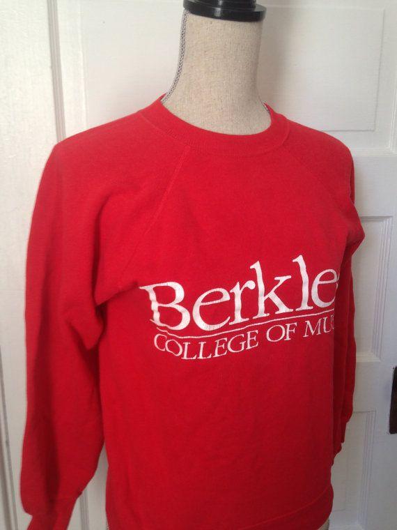 Vintage Berklee College of Music Sweatshirt by 21Vintage on Etsy