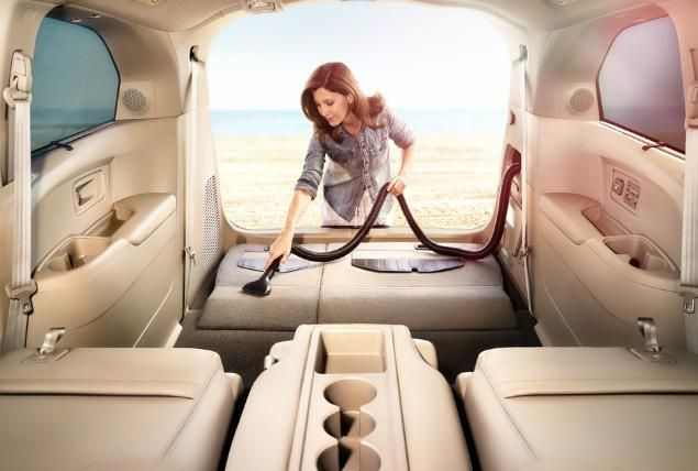 the only minivan that i have ever been interested in!  Honda debuted the first-ever in-car vacuum option in its Odyssey minivan.