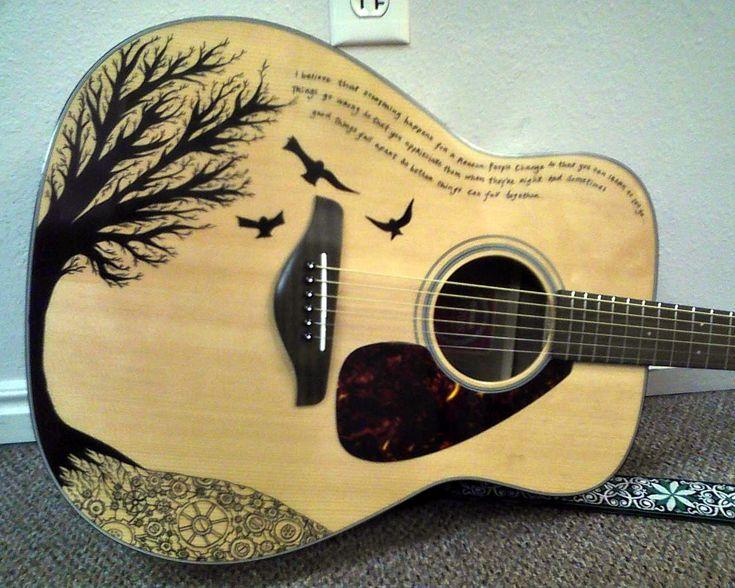 25 best ideas about guitar art on pinterest instruments for Acoustic guitar decoration ideas