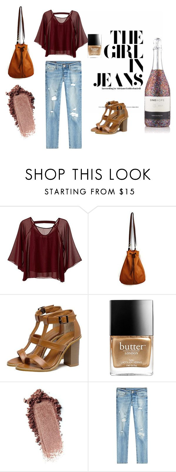 The girl in jeans by maslindadesigns on Polyvore featuring Traffic People, True Religion and Butter London