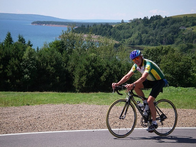 Cycling the Bras d'Or Lake Scenic Route.