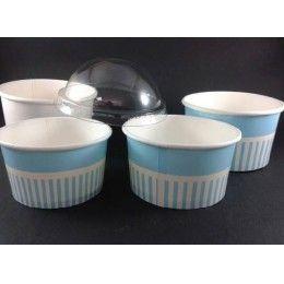 Tarrinas para helados, fabricadas en cartón. Diferentes tamaños. NO contienen tapas. http://www.ilvo.es/es/product/tarrina-carton-helado---70--100-mm