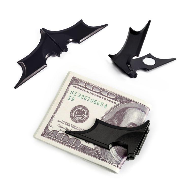 NewBring Черный Бэтмен Зажим Для Денег Мужчины Матовый Магнитного Складной Держатель Кошелек Ключ Наклейка бэтмен Металл Холодильник магнит холодильник