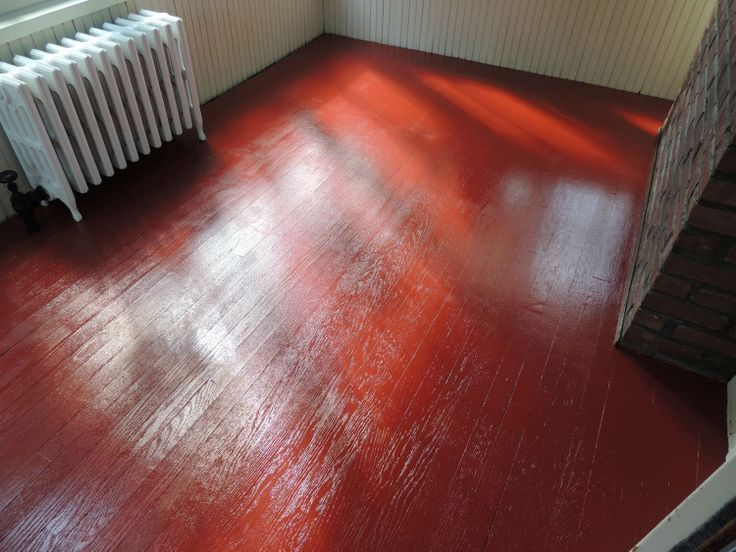 Sun Porch Floor Painted Tile Red Color With Insl X Tough