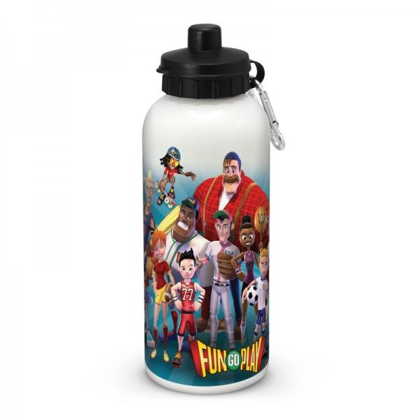MARINA DRINK BOTTLE – FULL COLOUR  BPA free 600ml food grade stainless steel drink bottle with a push/ pull mechanism and a secure over cap. It is designed specifically for stunning, dishwasher safe, full colour wrap around branding.