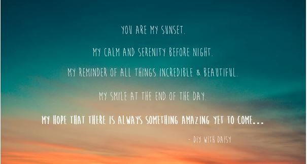 Sunset Love Quote