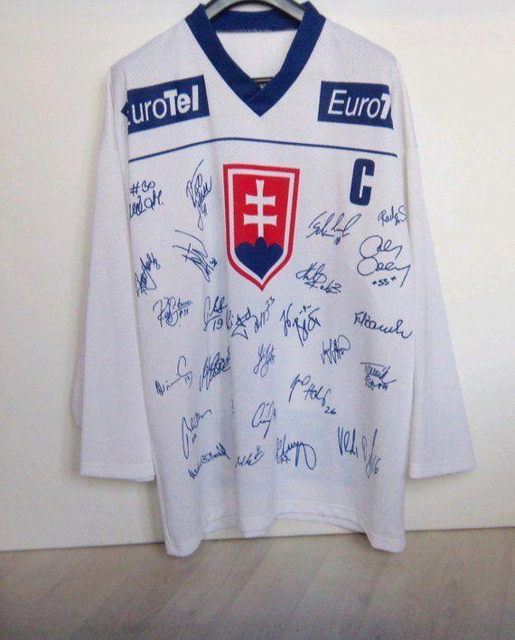 Satan 18 Hockey Jersey Slovakia National Team Iihf World Etsy Hockey Jersey Hockey Fashion Line