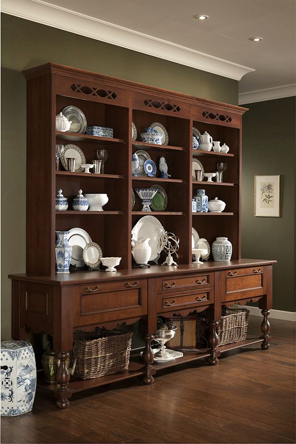 wood mode gramercy park china cabinet hutch glaze kitchen remodel cherry sideboard buffets