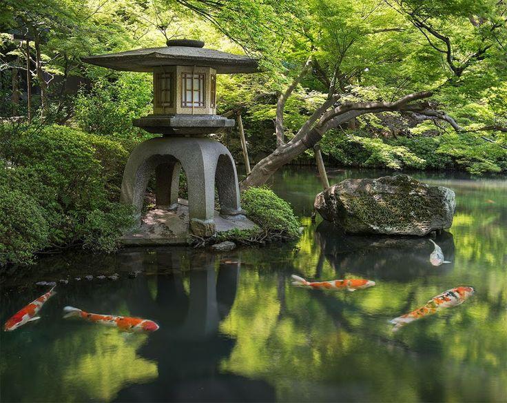 Японский сад Портленд Орегон США. в