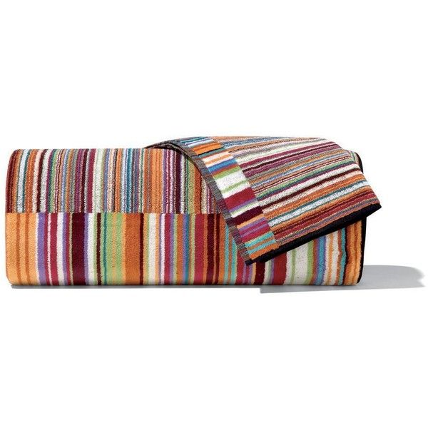 Missoni Home Jazz Towel - 159 - Hand Towel (56 BRL) ❤ liked on Polyvore featuring home, bed & bath, bath, bath towels, multi, colorful bath towels, striped hand towels, striped towel set, multi colored bath towels and missoni home