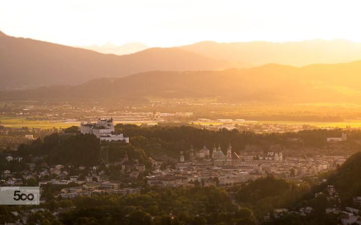 Salzburg in Golden Autumn Light II by Christoph Oberschneider on 500px