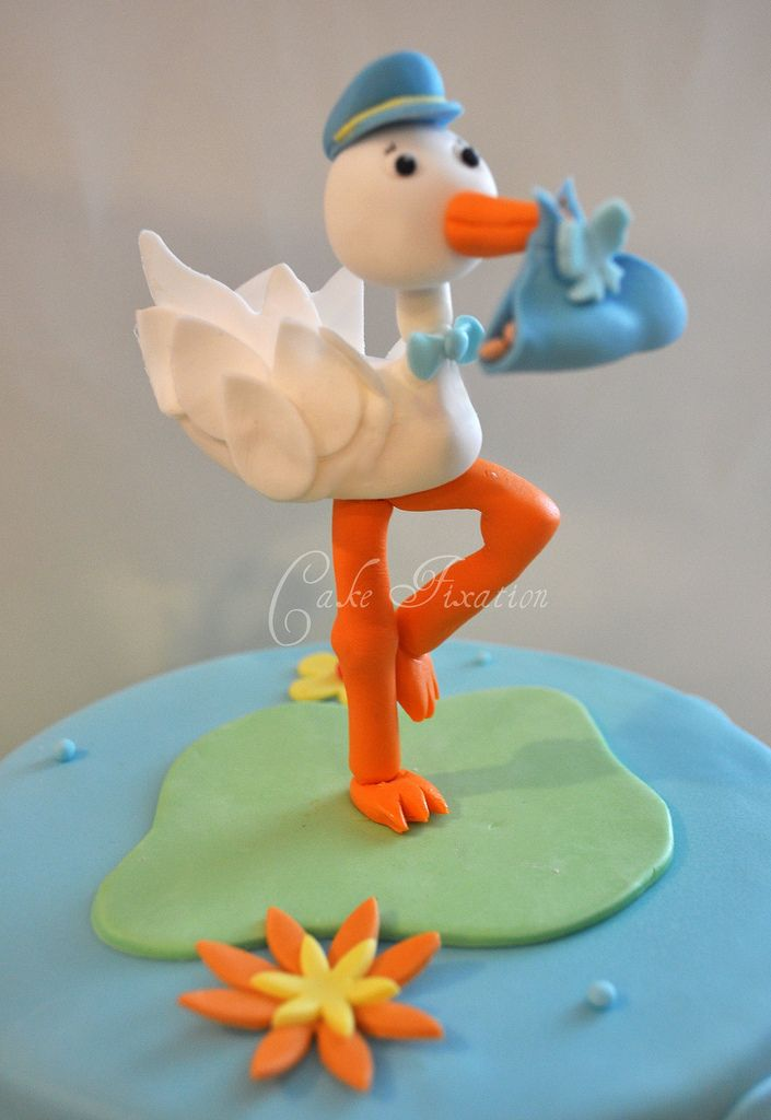 Cake Fixation: How to Make a Stork Cake Topper