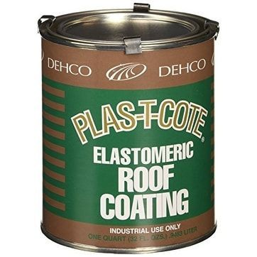 Dehco 16-47032 Roof Coating - 1 quart, Silver steel
