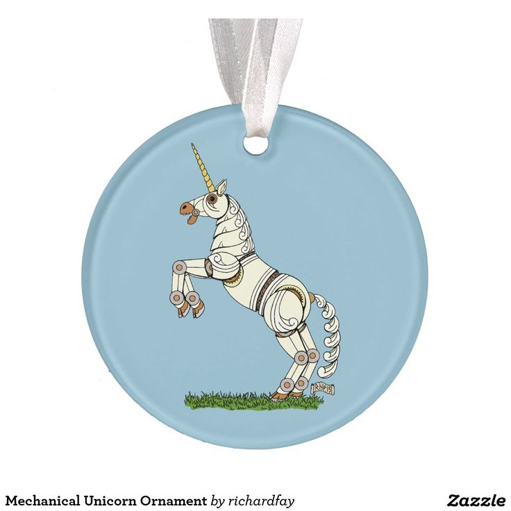SOLD 12/19/2016 through Zazzle (via a 3rd party) to a customer in Ballston Lake, NY: one Mechanical Unicorn Ornament.  #zazzle #sold #ornament  #unicorn #mechanical_unicorn #robotic_unicorn