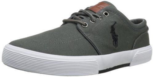 Polo Ralph Lauren Men's Faxon Low Fashion Sneaker,Deepgrey/Polo Black,9.5 M US. Size: 9.5 D(M) US. A heavy toe and heel bumper distinguish this logoed offering from Polo Ralph Lauren. Item dimensions: weight: 92, width: 10, height: 6.