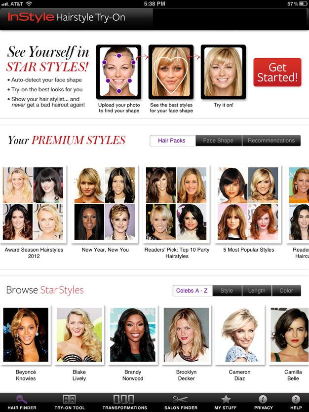 Instyle Hairstyle Try On On The App Store Try On Hairstyles Try Different Hairstyles Hairstyle