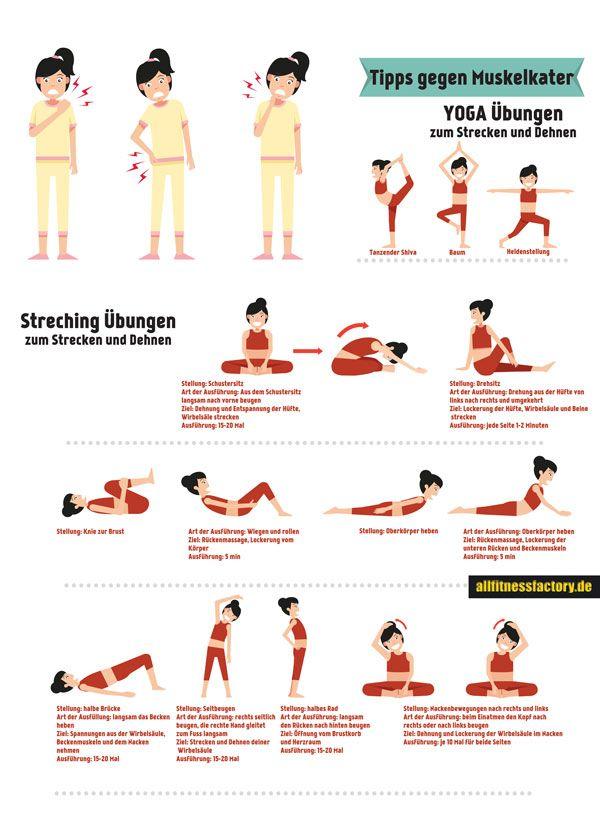 Tipps gegen Muskelkater Top Übungen Wie Tipps gegen Muskelkater mir im Alltag helfen? Was ist eine korrekte Yoga Atmung? http://www.allfitnessfactory.de/tipps-gegen-muskelkater-10-taegliche-uebungen/