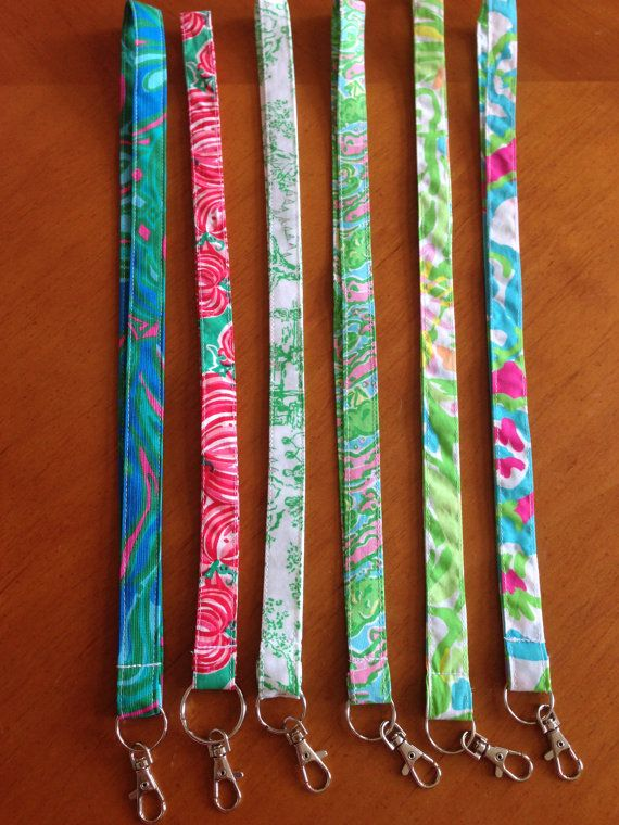 Lanyard Made with Lilly Pulitzer Fabric by SewPinkandSewGreen
