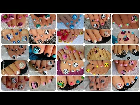 25 Toenail Art Designs Compilation ♥ - YouTube