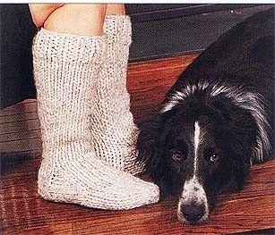 Cottage Slipper Socks Pattern (Knit)