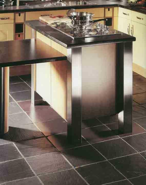 #Slate #Tiles Black #Kitchen #UnionTiles www.uniontiles.co.za