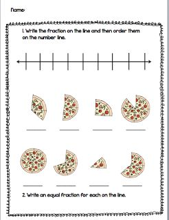 Fabulous in Fourth!: Fraction Freebie!