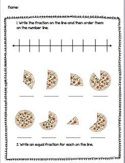 Fraction freebie.  Ordering fraction on number line.