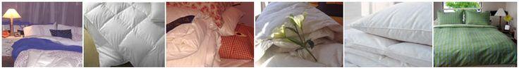 Plumones y almohadas de plumas,  cubreplumones para todas las plazas