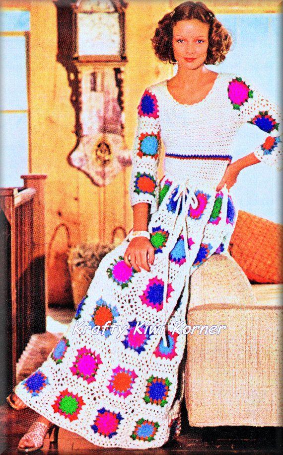 Ganchillo inspiración Vintage 1970s abuela por KraftytKiwiKorner