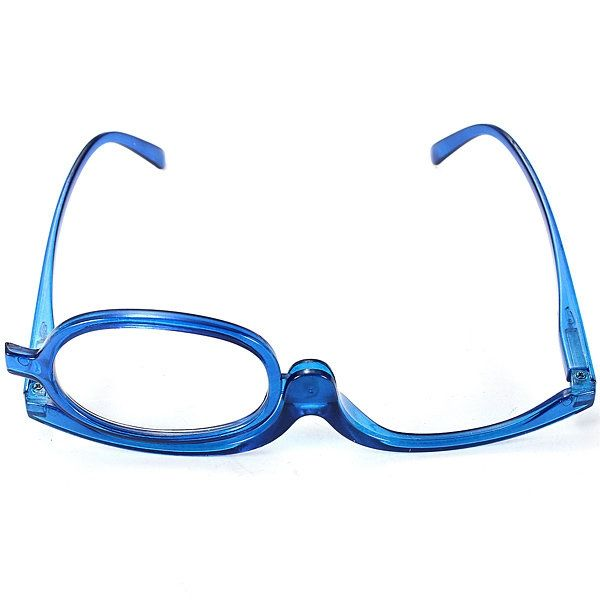 Material: Plastic Gender: Women Color: Blue Best Fit: From Small To Large Size Face Lens Width: App 5cm Lens Height:   App   3.5cm Temple To Temple Front:   App   12.5cm Temple Length: App 11cm Degrees Range:  +1.0, +1.5, +2.0, +2.5, +3.0, +3.5    Pacage Included:  1 X Makeup Magnifying Reading Glasses